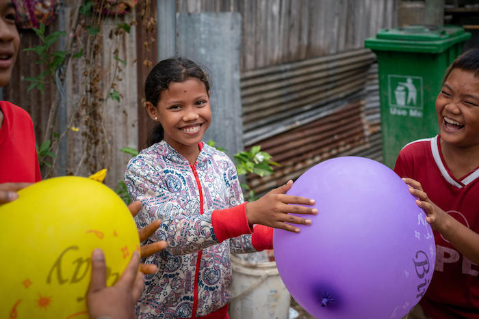 "Sun, 14, from Doem Slaeng Village near Phnom Penh, Cambodia, tells UNICEF she wants to be teacher so she can ""make hundreds of young lives better."""