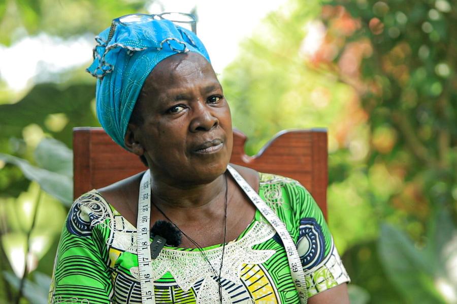 Thérèse is a widow whose husband was a Virunga National Park eco-guard.