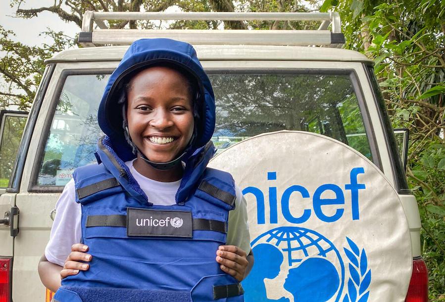 Ketsia, 16, is a UNICEF Child Reporter in Democratic Republic of the Congo.