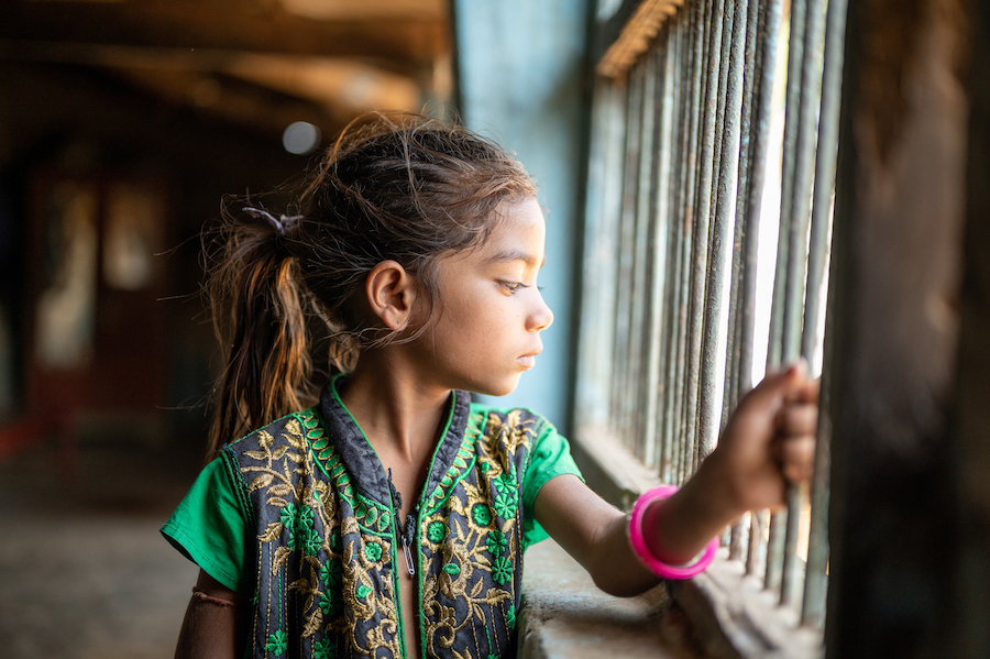 UNICEF coordinates alternative care and mental health psychosocial support for vulnerable children, including this girl from Kantivaas village, Banaskantha, Gujarat, India.