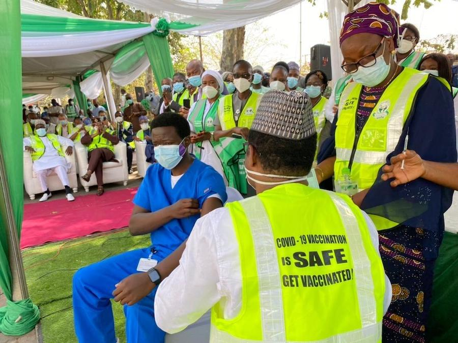 The first male health worker to get the COVID-19 vaccine in Nigeria has been working in the isolation ward at National Hospital in Abuja since March 2020.