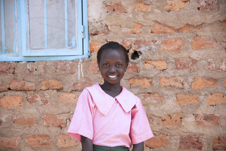 Sunday Lino, 10, is a member of the school hygiene club at Faith Ministry International Academy in Torit, South Sudan.
