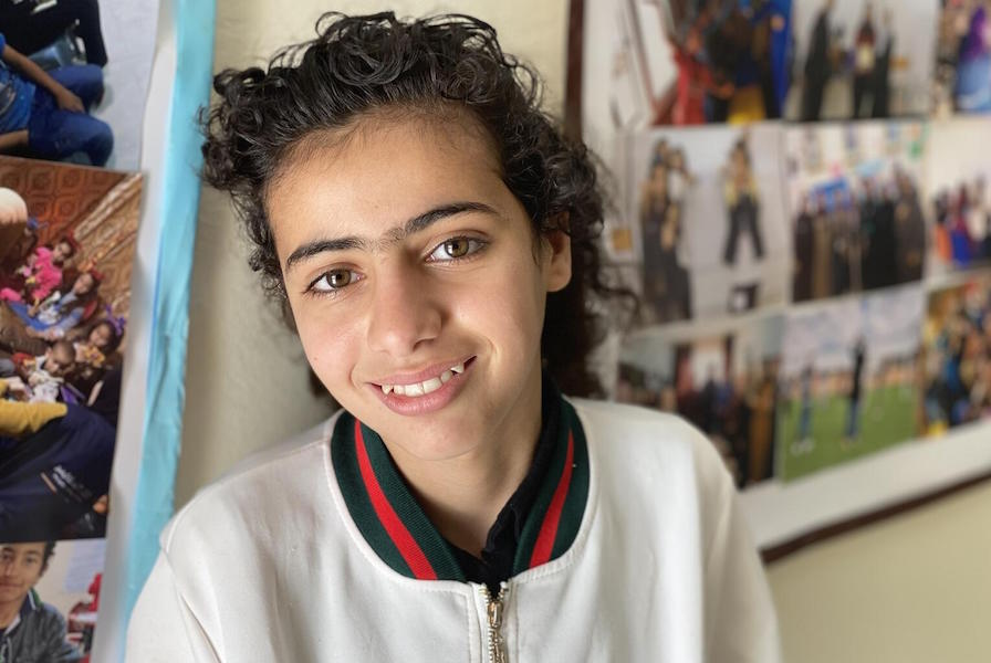 Rimas, 10, is a Syrian refugee from Homs. She lives in Mafraq, Jordan with her parents and siblings.
