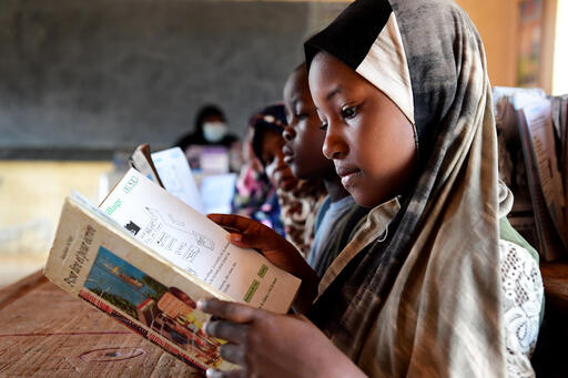 Rahima is a 7-year-old student at a primary school in Niger's capital, Niamey, where her mother happens to teach.  Pencils, exercise, books, and other materials from the Inspired Gifts Education Collection can help make the dreams of children like Rahima.