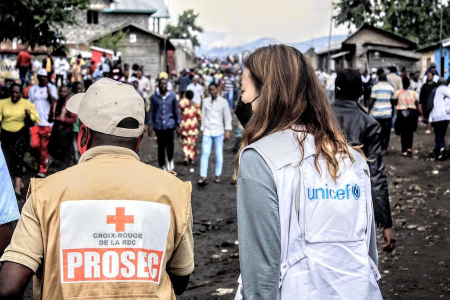 Sunday, May 23, 2020 - Goma, DR Congo. UNICEF and its partner, the Congolese Red Cross, have conducted a rapid needs assessment in Sake, Buhene, Kibati and Kibumba.