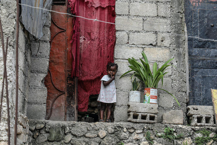 A child in Tabarre Issa, Port-au-Pince, Haiti, photographed on May 25, 2021.