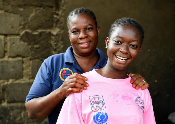 In July, 2021, Olivia, 16, headed back to school in Dori, in the Northeast Sahel region of Burkina Faso with encouragement from her mother and a UNICEF-supported scholarship fund.
