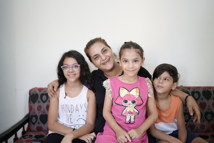 Faten, a single mom, and her three children are receiving psychosocial support through a UNICEF-backed program for those affected by the Aug. 4, 2020 port disaster in Beiruit.