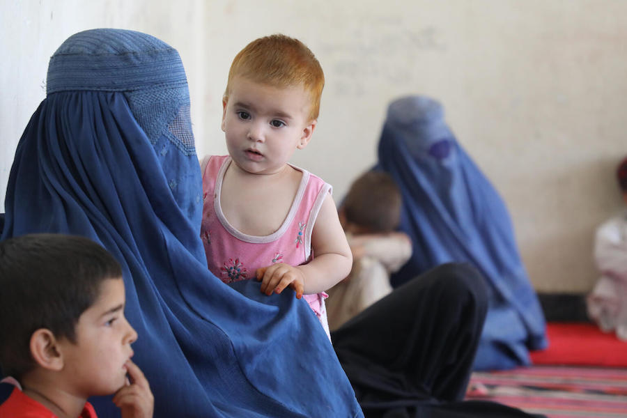UNICEF and partners are providing urgent assistance to families fleeing conflict and instability in Afghanistan in August, 2021.
