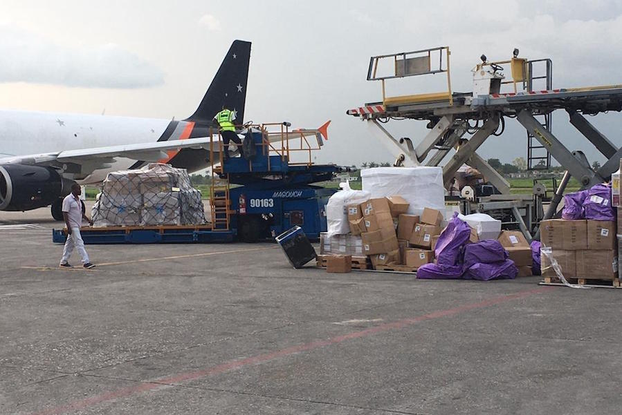 In response to the powerful earthquake that struck Haiti August 14, 2021, the first UNICEF shipment of 9.7 metric tons of medical and water and hygiene supplies arrived on August 20 in Port-au-Prince, the capital city.