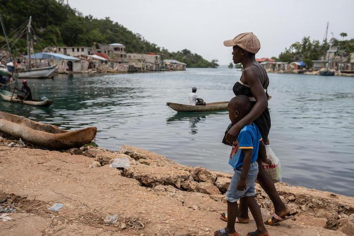 Mélienne Dessir's infant daughter was killed when a 7.2-magnitude earthquake struck Haiti on Aug. 14.