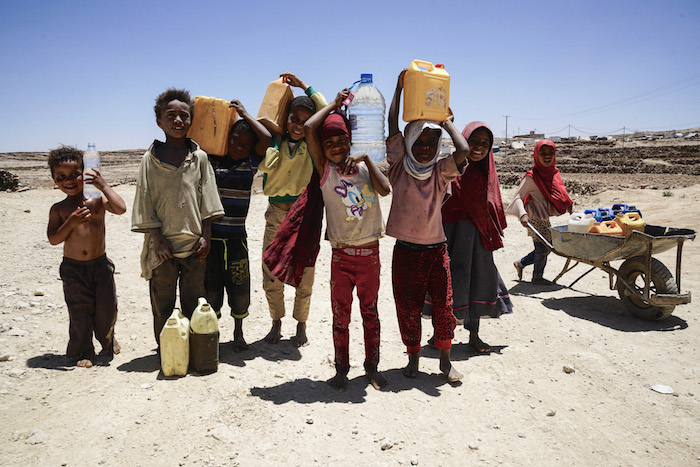 Clean water and other basic needs are in critically short supply in Yemen as a result of the ongoing conflict.