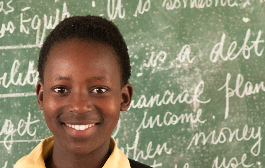 """What I love most of all is to write stories. I hope one day to become a writer. - says 13-year-old Anathi Mlengana, one of the 400 pupils of the Bijolo School, launched by the Nelson Mandela Institute with UNICEF support"