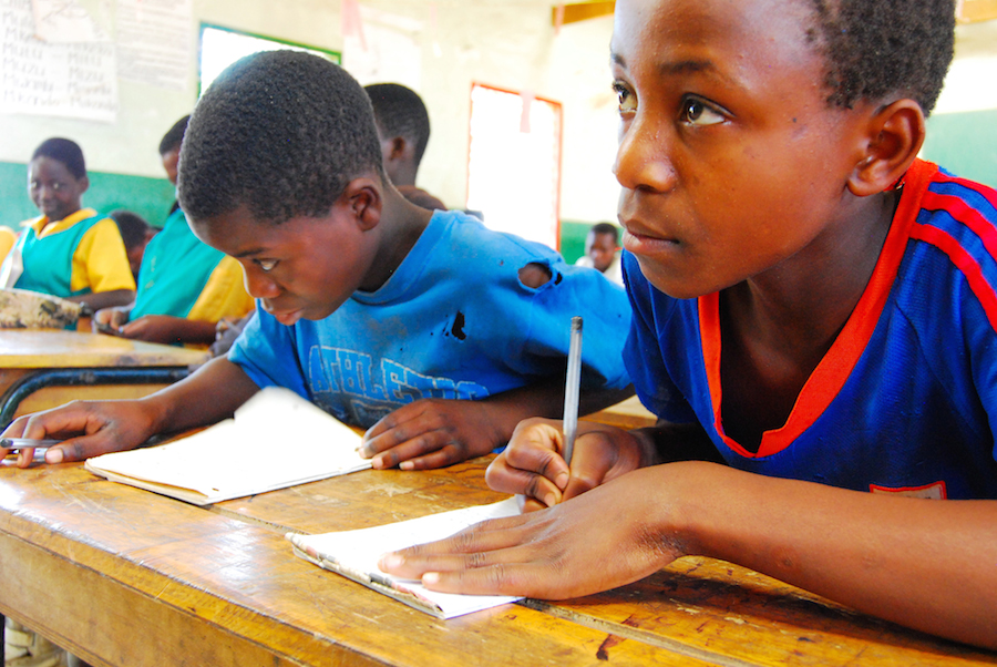 Students in the Mchuchu Primary School in Malawi.