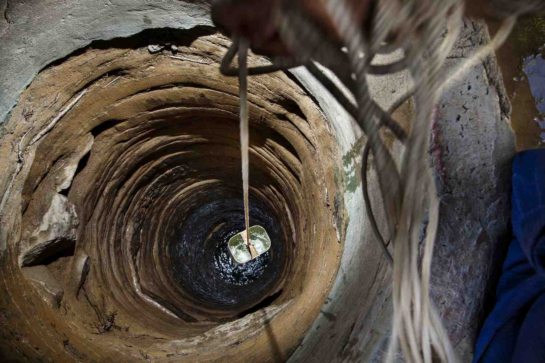UNICEF-dug well in rural Myanmar