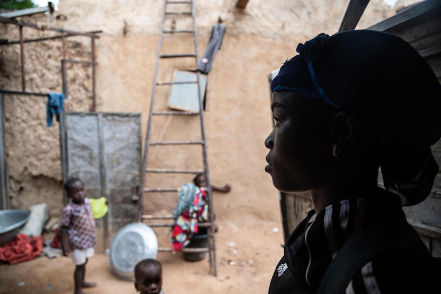 Pascaline lives in Lacouroussou, a poor neighborhood of Niamey, the capital of Niger. A UNICEF-supported soccer program has helped her stay in school.