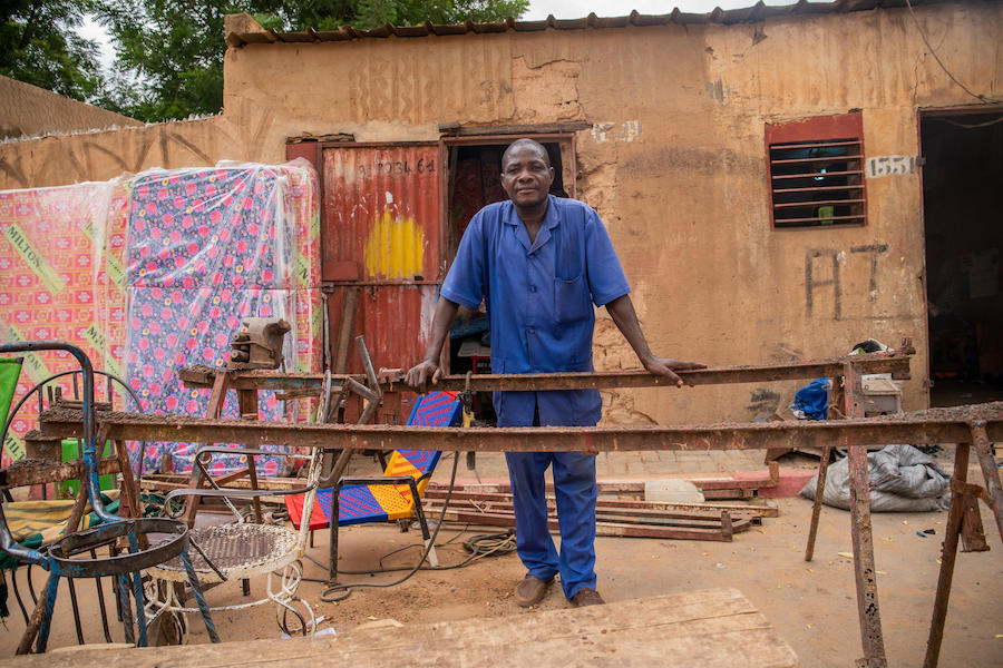 At his welding shop in Niamey, Niger's capital, Henri says he's proud his teenage daughter has stayed in school, attending a UNICEF-sponsored program that combines sport and academics.