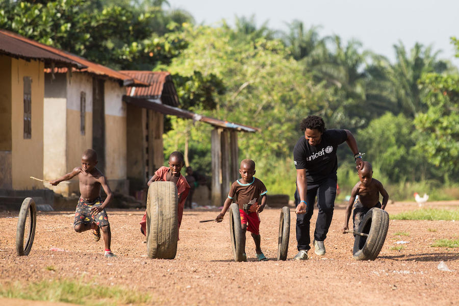 Former child soldier and UNICEF Goodwill Ambassador Ishmael Beah's return to Sierra Leone in 2019 was a celebration and a chance to give back.