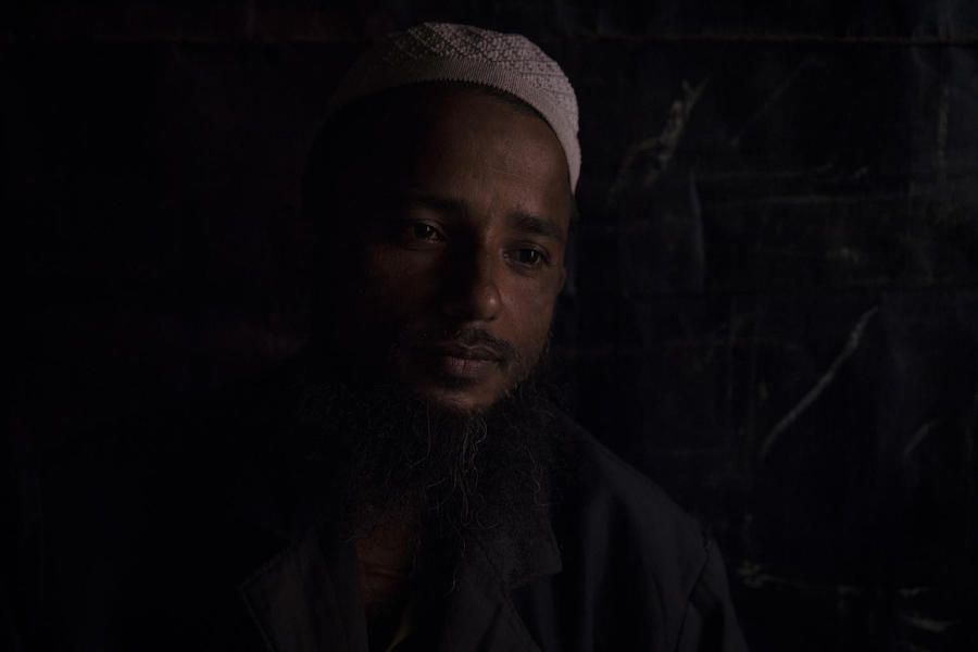 On 2 December 2019, Ahmed Hussein, 36, sits in his home in Balukhali refugee camp, Cox's Bazar, Bangladesh, and tells of the disappearance of his 2-year-old son, Mohammed Sohail.