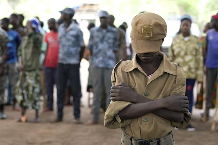 Jackson, 13, a former child soldier, has been receiving reintegration support services from UNICEF since his release from a South Sudanese armed group in 2018.
