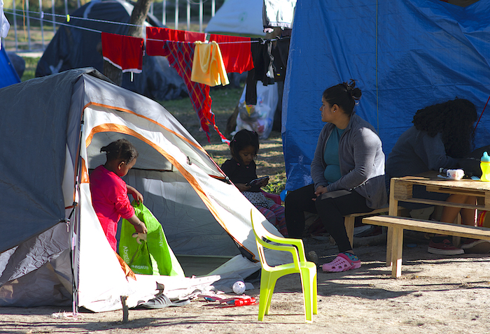 UNICEF Mexico provides psychosocial support and coordinates other services to meet the humanitarian needs of migrant children and families staying in tents in Matamoros, Mexico.