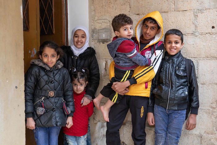 Syrian refugee families of 10,000 children already enrolled in the UNICEF-supported Hajati 'My Needs' cash transfer program received a winter top-up based on family size in order to cover costs of heating fuel, winter clothing and other essentials.