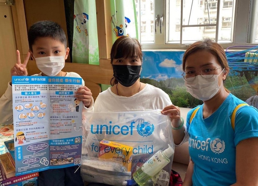 Distributing hygiene kits and information to vulnerable families has been a critical component of UNICEF's global response to the COVID-19 pandemic since the beginning.