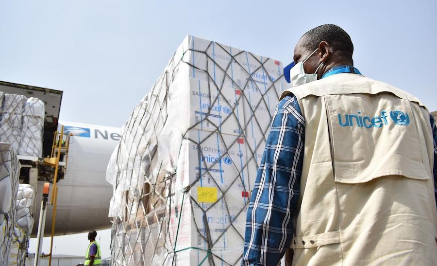 A planeload of vital supplies from UNICEF arrives in Nigeria to assist in the country's fight against COVID-19.