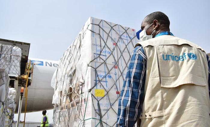 Supplies arrive in Nigeria to assist in the fight against COVID-19.