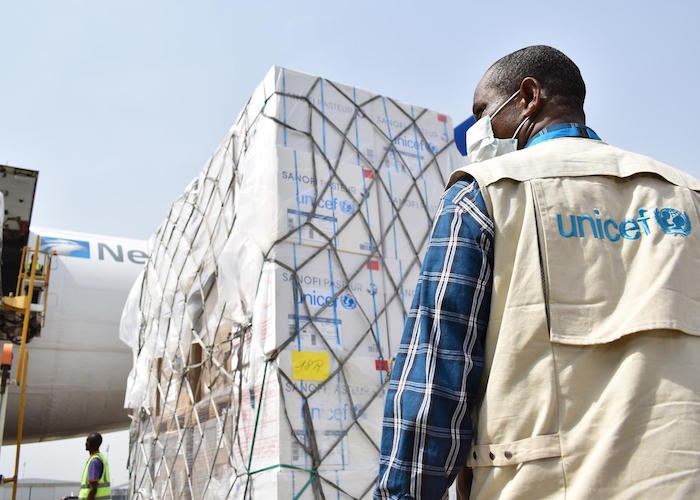 On April 16, 2020 a UNICEF shipment of vital health supplies to support the fight against the COVID-19 pandemic arrived in Nigeria..