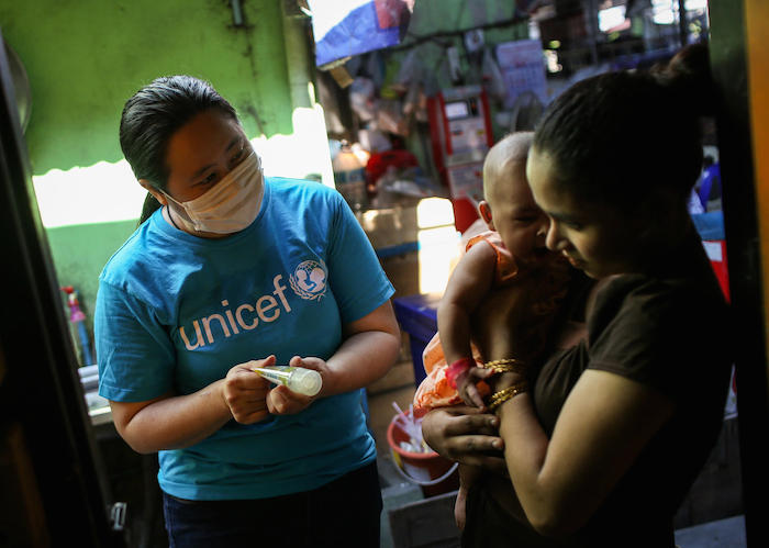 UNICEF is distributing hygiene supplies to households in need as part of its global response plan.