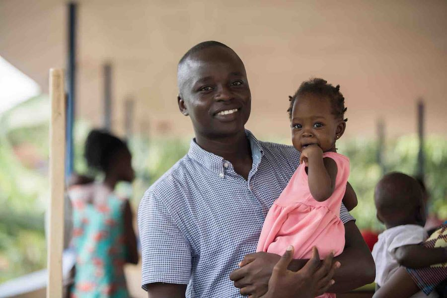 """I am responsible for her health,"" says Herbert, who, even after their grueling two-hour journey to the nearest health center, still kept Donatel smiling. ""I know that immunization will strengthen her immune system, which will help her fight other disease"