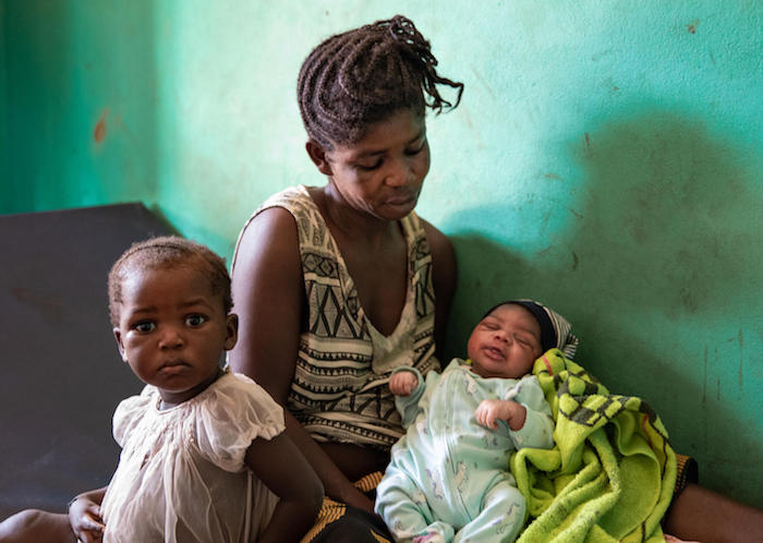 In June 2020, this mother gave birth to a healthy baby girl in the village of Lolifa near Mbandaka, Democratic Republic of Congo, not long after the first cases of Ebola were reported there.
