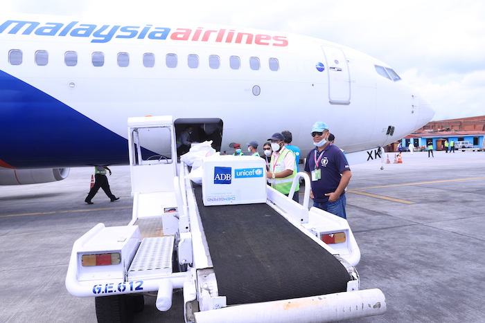 The consignment of medical supplies and equipment that arrived at Tribhuvan International Airport, will equip COVID-19 isolation units in identified hospitals across the country, in response to the needs identified by the Ministry of Health and Population