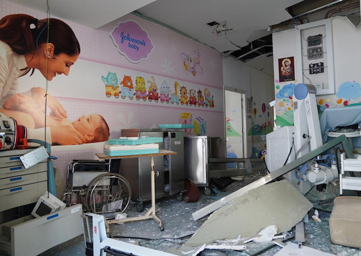 The Beirut port explosion of 4 August 2020 severely impacted the Karantina Governmental Hospital, located in the port area of Beirut, Lebanon. UNICEF supports the neonatal unit, which provides medical interventions for newborn babies.