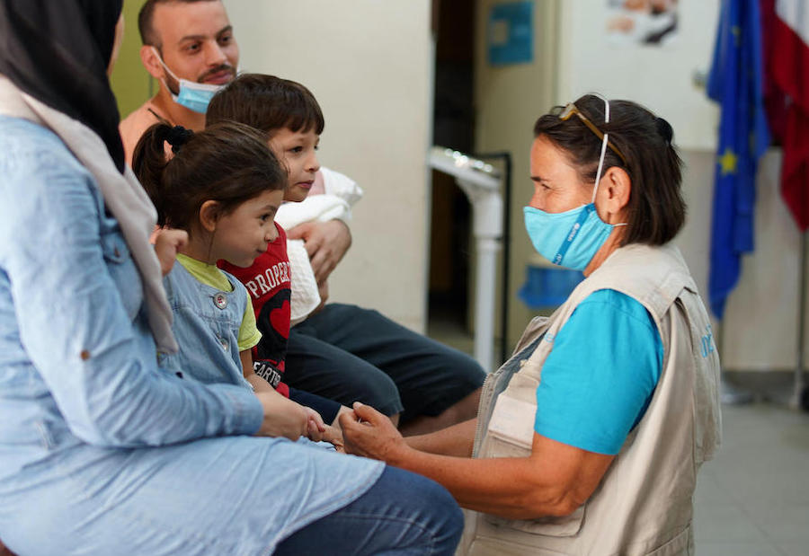In the aftermath of a deadly port explosion in Beirut, a UNICEF doctor provides care and support to affected children and families at a UNICEF-supported health center.
