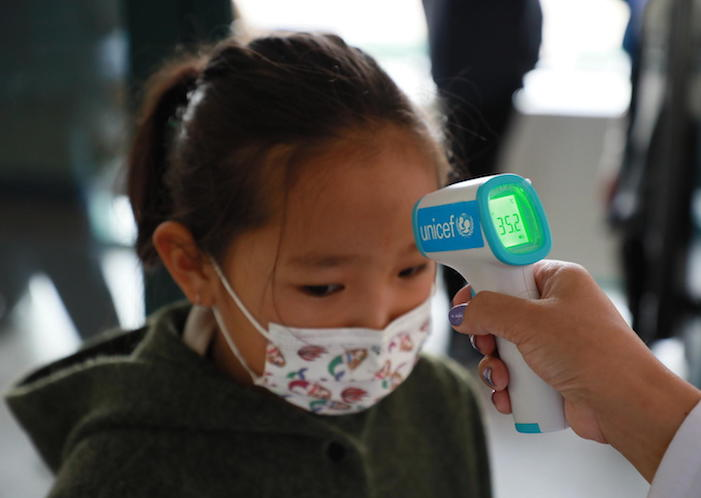 UNICEF Mongolia supplied infrared thermometers to all public schools and kindergartens in Mongolia's Bayanzurkh district as part of its COVID-19 prevention measures.