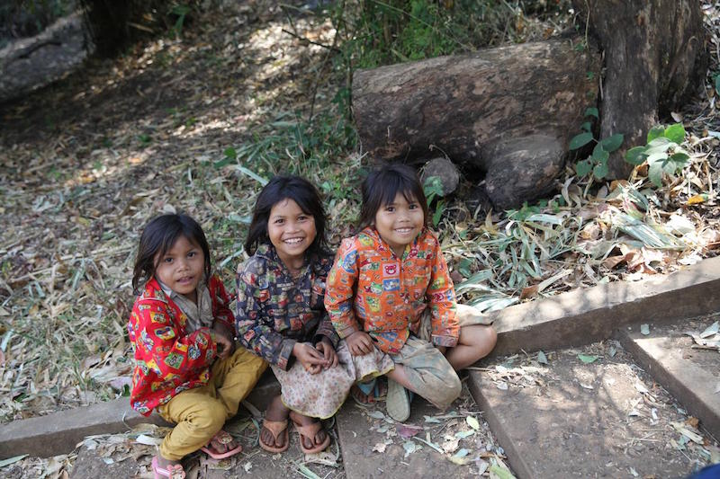 Children resting in Cambodia, where UNICEF and Kiwanis International have made great strides in fighting maternal and neonatal tetanus.