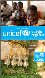Download the latest UNICEF Cards and Gifts catalog