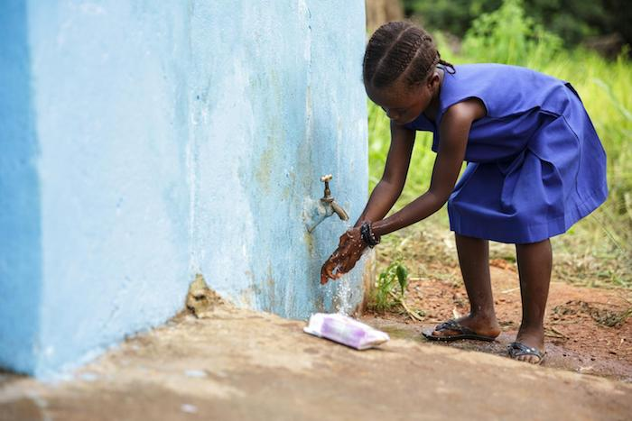 Washing hands after using the toilet: a simple act that can protect against serious, even deadly diseases.