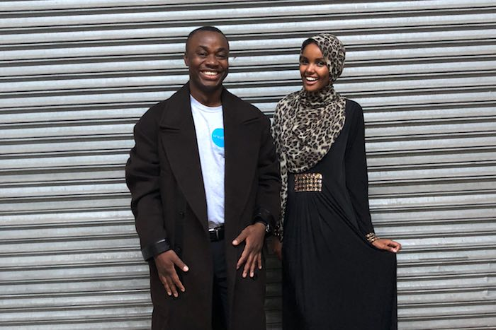 Sidibay appeared with UNICEF Goodwill Ambassador Halima Aden in the September issue of CR Fashion Book. Born in Kakuma, a refugee camp in Kenya, after her family fled civil war in Somalia, activist-model Aden is working to engage young people in support