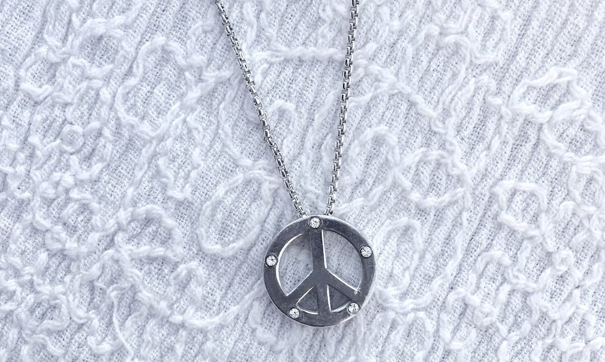 Sterling Silver World Peace Necklace Supporting UNICEF - Available Exclusively at ALEXANDANI.com