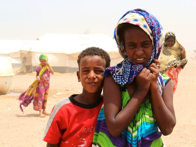 Their home flattened by rockets, Sabah, 10, and her brother, Ahmed, lost everything. Though rebel fighters tried forcing them to stay, they fled with their mother across the sea to Djibouti.