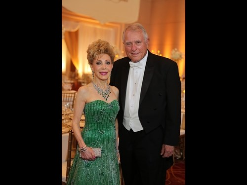 Honoree and Audrey Hepburn Society Philanthropist of the Year, Margaret Alkek Willilams with Jim Daniel.