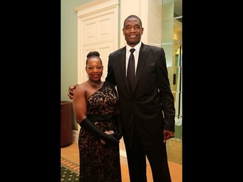 National Board Member, Dikembe Mutombo with wife Rose Mutombo.