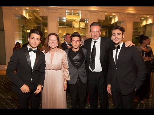 Karin Hofer and Sean Hepburn Ferrer with Il Volo.