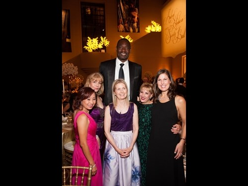 National Board Member, Dikembe Mutombo with Southwest Region Board Members Susan Boggio, Louise Ng, Ann Holmes, Mariana Servitje and Laura Torgerson.