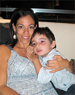 Tamar Hahn and her five-year-old son Jacob at home in Panama City, Panama.| © Hahn family photo