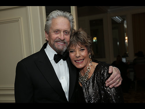 Michael Douglas and Dena Kaye attend the 2014 UNICEF Ball at the Beverly Wilshire Hotel in Beverly Hills, CA on Tuesday, January 14, 2014 (Photo: Alex J. Berliner / ABImages)