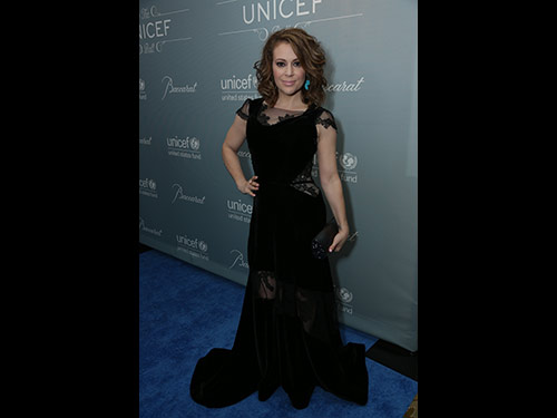 Alyssa Milano attends the 2014 UNICEF Ball at the Beverly Wilshire Hotel in Beverly Hills, CA on Tuesday, January 14, 2014 (Photo: Alex J. Berliner / ABImages)